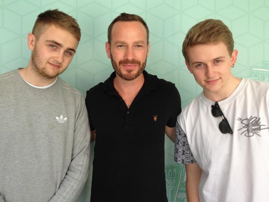 Disclosure's Guy and Howard Lawrence with Jason Bentley.