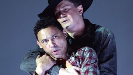 Tom Randle (left) and Daniel Okulitch star in the opera Brokeback Mountain.
