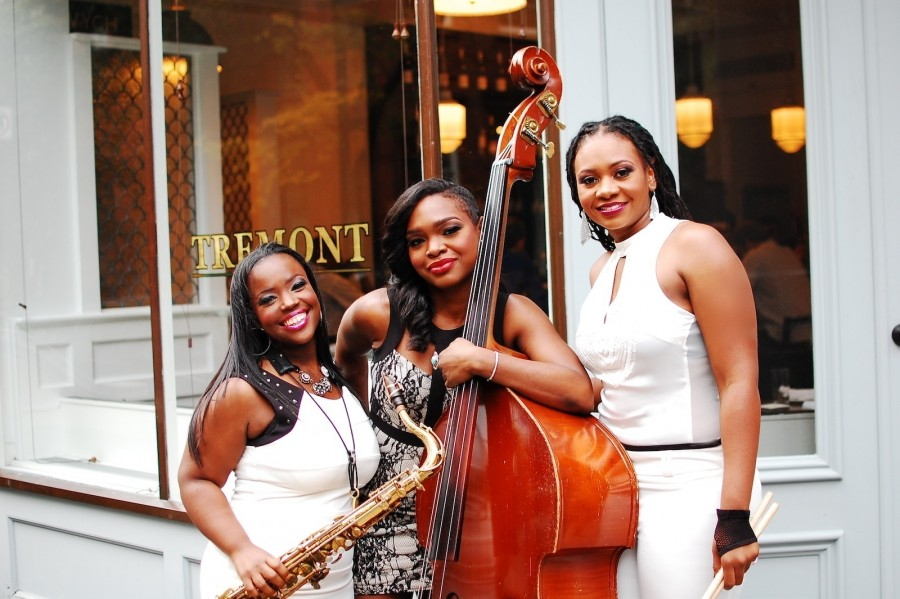 Camille Thurman (left), Mimi Jones (center) and Shirazette Tinnin all released new albums this week on Hot Tone Music, Jones' record imprint.