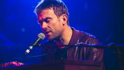 Damon Albarn performs at NPR Music's SXSW showcase at Stubb's BBQ in Austin, Texas.