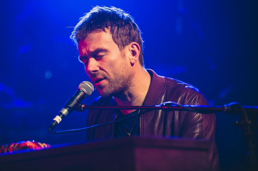 Damon Albarn performs at NPR Music's SXSW showcase at Stubb's BBQ in Austin, Texas.