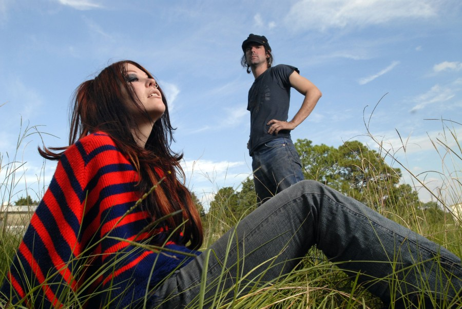 Gazelle Amber Valentine (left) and Edgar Livengood of Jucifer.