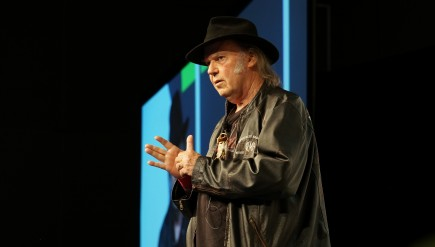 Neil Young speaks about Pono, his new high quality digital audio system, at SXSW.