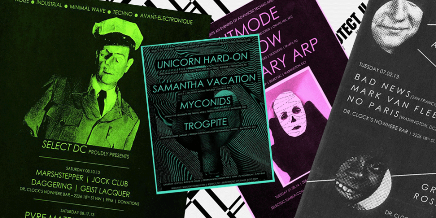 Select DC books electronic music in low-key venues.