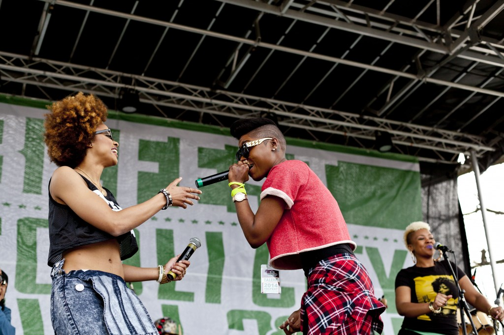 DC-based hip-hop artist RA The MC briefly joined singer Reesa Renee on stage at Broccoli City Festival, Saturday, April 19, 2014.