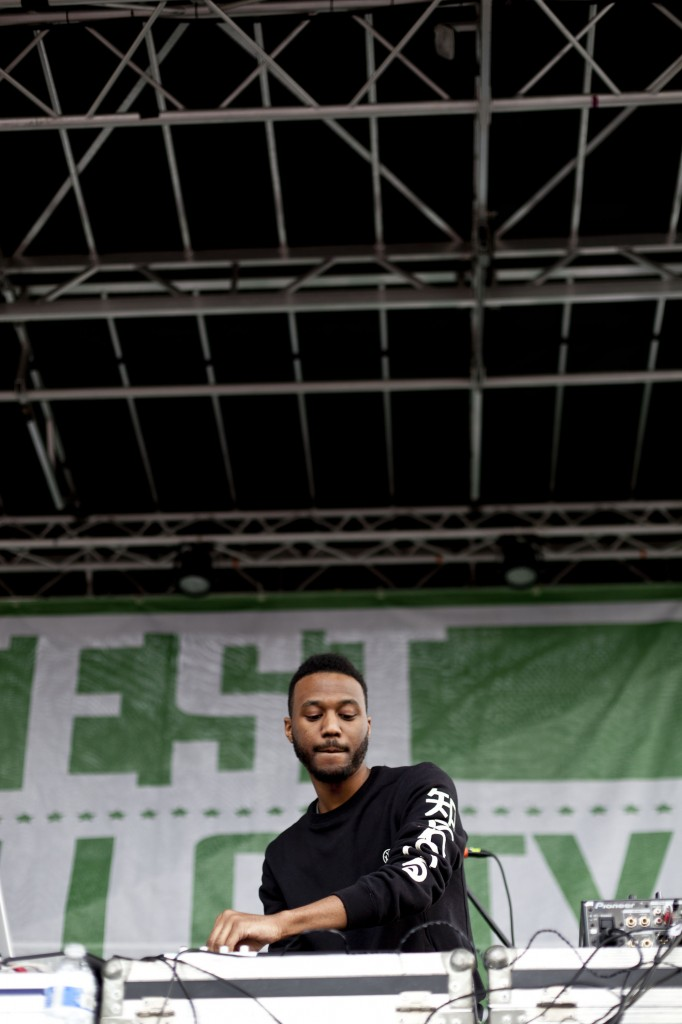 Grand Rapids, MI-producer Sango played a set of his signature brand of remixes of popular hip-hop and R&B songs,in addition to his own original productions at Broccoli City Festival, Saturday April 19, 2014.