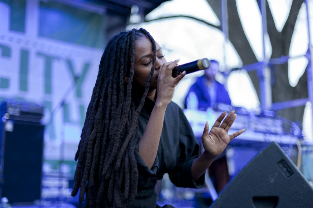 L.A.-based and DC-born R&B singer Kelela performed tracks from her mixtape Cut 4 Me at Broccoli City Festival, April 19, 2014.
