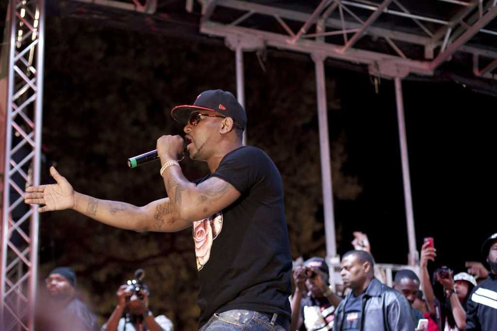 Hip-hop artist Cam'Ron was the final act to perform at Broccoli City Festival, Saturday, April 19, 2014.