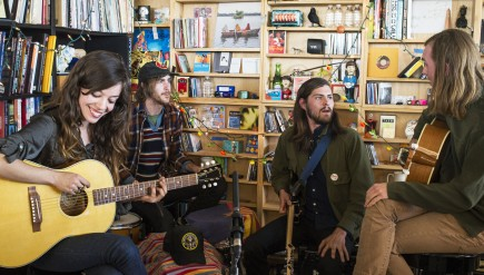 Quilt performs at a Tiny Desk Concert in February 2014.