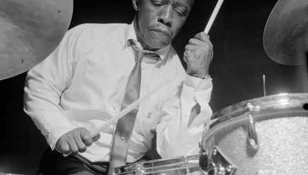 Drummer Art Blakey is among the subjects in a Blue Note photography exhibition at D.C.'s Goethe-Institut.