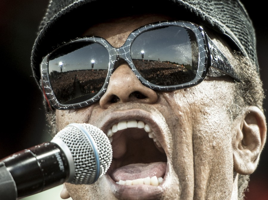 Bobby Womack plays at the Roskilde Festival in Roskilde, Denmark, last July. Womack died on Friday at age 70.