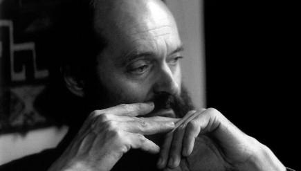 Estonian composer Arvo Pärt, creator of contemplative music, photographed in 1990 by influential patron Betty Freeman.