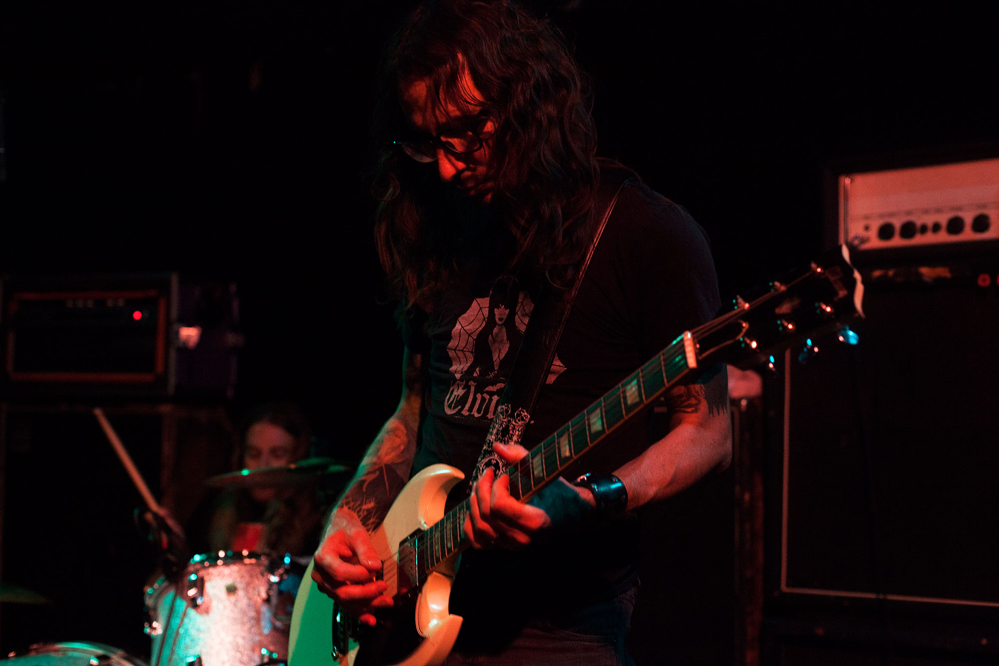 Garrett Morris of Windhand performing on The Backstage at Black Cat.