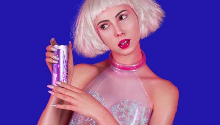 The new collaboration between PC Music's A.G. Cook and affiliated producer SOPHIE is a combination singer and energy drink (neither of which might actually exist) called QT. Seriously.