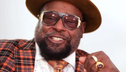 George Clinton backstage at the Museum of the Moving Image, in Astoria, Queens, NYC.