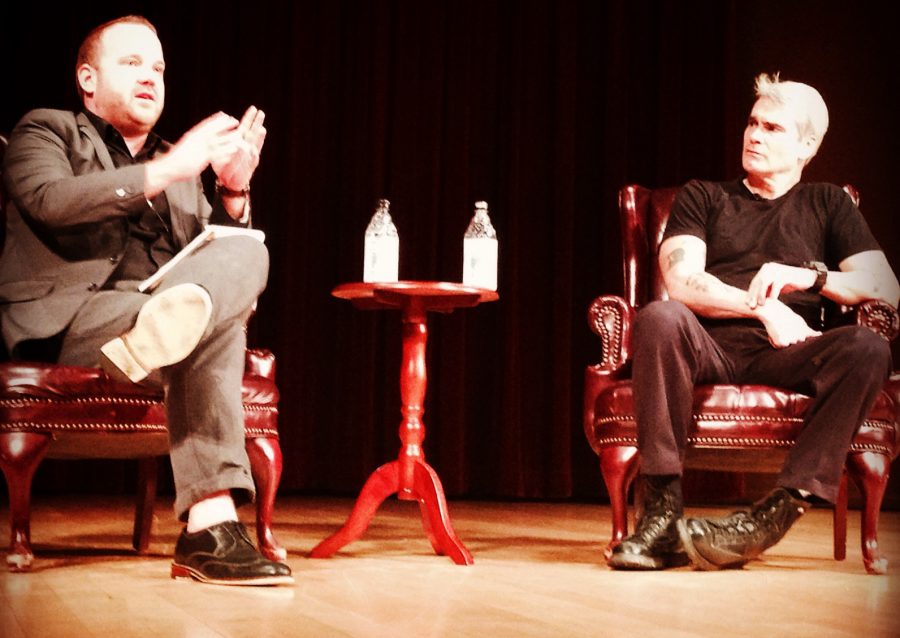 Henry Rollins talked D.C. punk, celebrities and Black Flag Tuesday night at the Baird Auditorium.