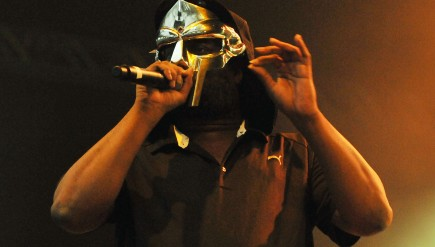 Rapper DOOM, Zev Lov X of KMD, performs at the I'll Be Your Mirror festival in London, July 2011.