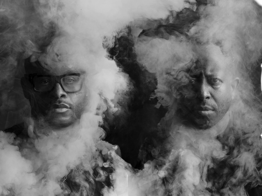 "PRhyme is Royce Da 5'9"" (left) and DJ Premier."