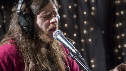 Meatbodies, performing live in the KEXP studio.