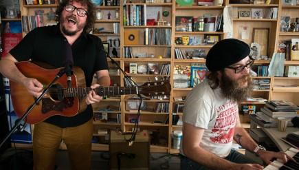 Bobby Bare, Jr. and Matt Rowland perform at the Tiny Desk, Wednesday, November 19, 2014.