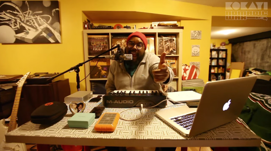 D.C. producer and MC Kokayi rocked his Tiny Desk contest submission, and he didn't even have to stand up.