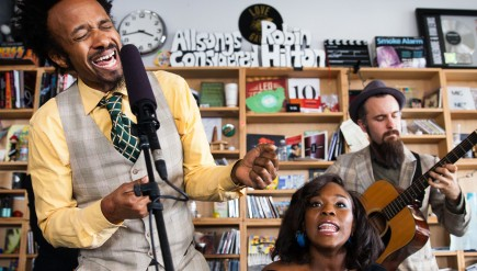 Tiny Desk Concert with Fantastic Negrito, winner of the Tiny Desk Concert Contest, at NPR headquarters in Washington, D.C., on Feb. 26, 2015.