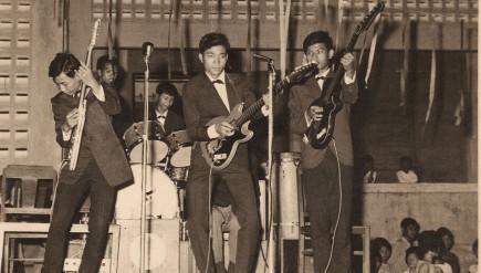 Cambodian band Baksei Cham Krong.