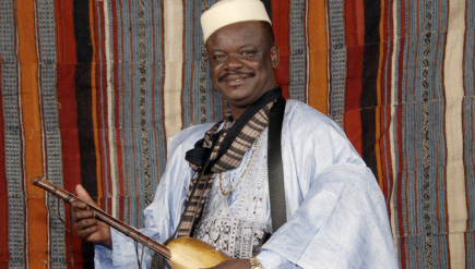 Cheick Hamala Diabate, a griot from Mali who lives in Maryland, is a master of the n'goni.
