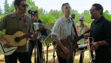 Calexico performs for opbmusic at Edgefield Winery in Troutdale, Ore.