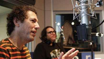 Ira Kaplan (left) and James McNew of Yo La Tengo in NPR's New York City studios.