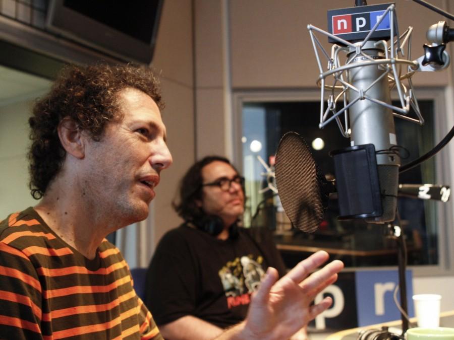 Ira Kaplan (left) and James McNew of Yo La Tengo in NPR's New York City studios.