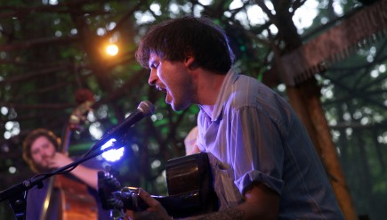 Ryley Walker performs live at the Woods Stage at the 2015 Pickathon festival.
