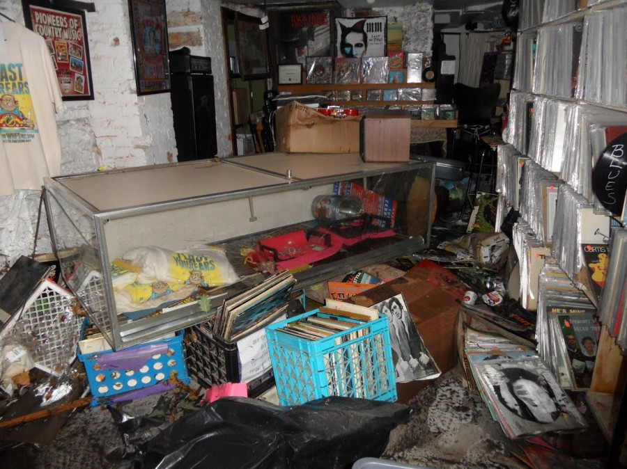 In September, a flood almost wiped out Maryland record store Vinyl Acres.