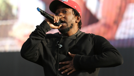 Kendrick Lamar on stage in July. His album To Pimp A Butterfly is nominated for the Album of the Year Grammy.