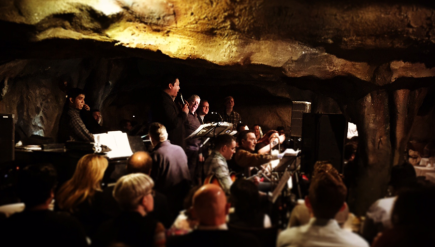 The Bohemian Caverns Jazz Orchestra performs one of its last shows at its namesake venue.