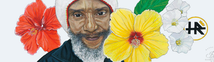 Lori Carns Hudson, wife of Bad Brains frontman H.R., has been making artwork to help cover her husband's medical expenses. A new crowdfunding campaign aims to raise more funds.