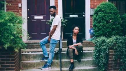 Singer April George, right, and producer Matt Thompson steer their R&B out of the cosmos on their latest single.