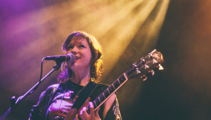 D.C. guitarist Mary Timony (shown playing the 9:30 Club in 2015) is taking a turn on the Seth Meyers show.