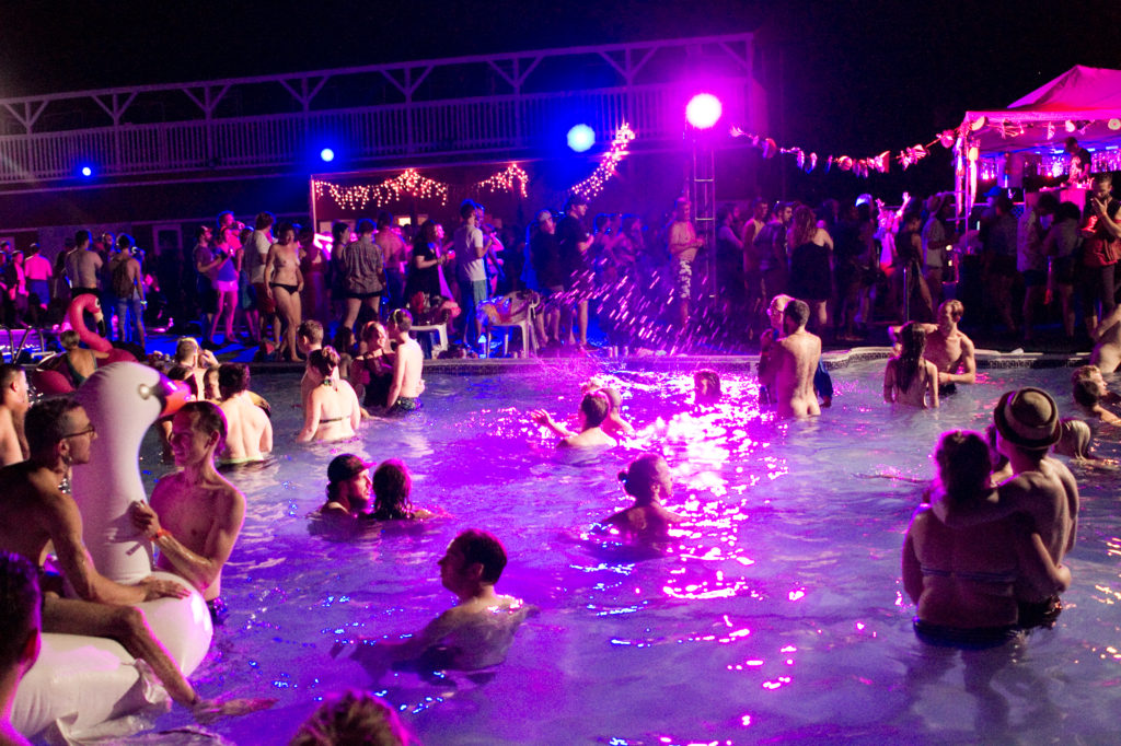 Friday night's Pool Party at Fields Festival