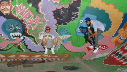 Funky perspective: MILK$ (pronounced Milk Money) is DJ/producer Avervge, left, and MC/producer Parabellum Raps.