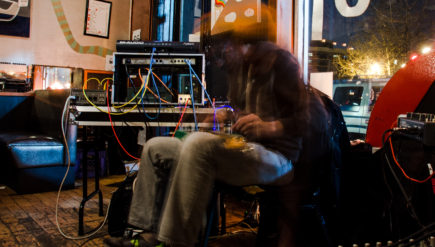 Insect Factory's expansive drones come from a relatively modest setup — it's Jeff Barsky, his guitar and a few pedals.