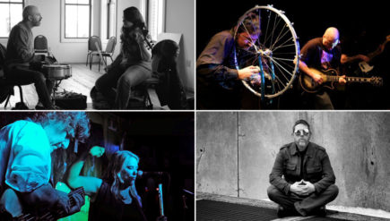 Some of the artists at the 2016 Sonic Circuits festival, clockwise from top left: Sleep Talk (Natalia Steinbach & Dave Grollman); Zlimrah; Chester Hawkins; and the Hay-Liebig Duo.