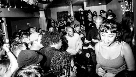 A mass of dancing bodies at Turnstile's December 2015 show at Songbyrd Music House in Washington, D.C.