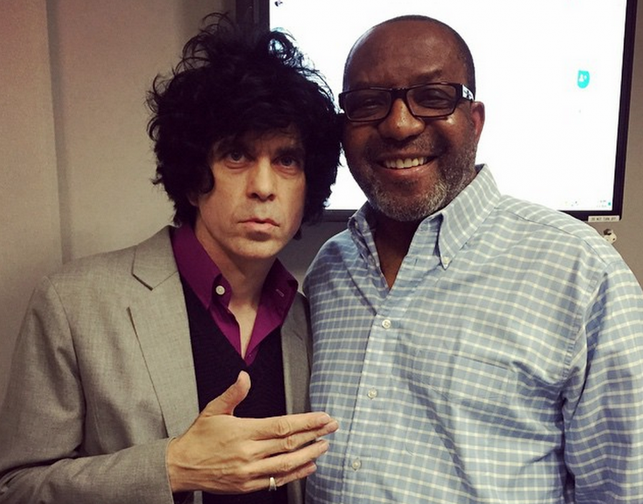 Your support helps pay for top-notch programming at WAMU — like the Kojo Nnamdi Show, which hosted D.C. music icon Ian Svenonius (left) in 2015. At right, host Kojo Nnamdi.