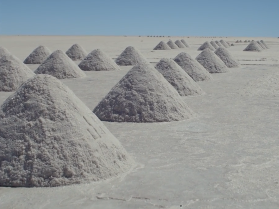 """Mounds of salt dot the landscape in a new video for Adam Bryanbaum Wiltzie's song """"The Few Of Us Left."""""""