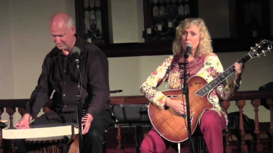 Terri Bocklund, right, performs at The Hill Chapel in Maryland in 2013.